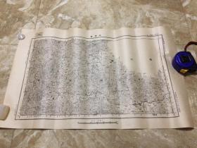 【民国地图】汪家营(湖北省利川县 四川省奉节县 万县)地形图
