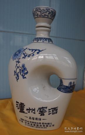 收藏酒瓶 异形青花瓷酒瓶高25厘米二斤装x3