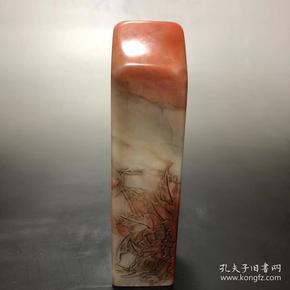 收来的寿山芙蓉石《花开富贵》印章