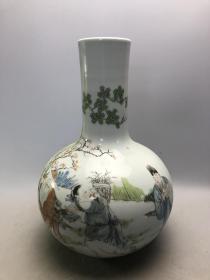 粉彩人物大瓷瓶 A1843
