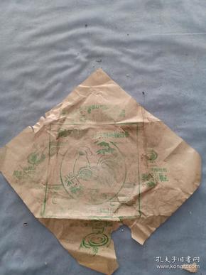 (夹4)建国后 河南 鸡鸣牌 蚊香包装纸广告,尺寸27*28cm