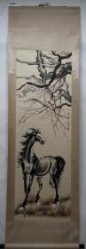 清風閣畫廊-著名書畫家-徐悲鴻-單馬(純手繪)-立軸-3036
