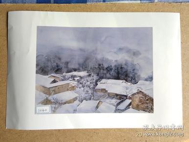水粉画参赛作品签名照片《冬之韵》作者:李春艳