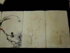 清代花鸟画册页 名家所绘 惜缺尾部,无落款 共22幅