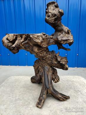 老槐木根雕