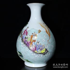 清乾隆粉彩八仙人物纹玉壶春瓶