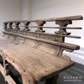 山西庙椅 排椅