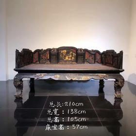 潮州大漆描金罗汉床