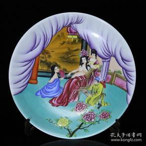 清雍正珐琅彩贵妃出浴纹盘