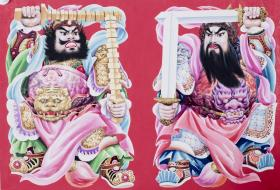 山東畫家 陳明 年畫原稿《鎮宅將軍》一幅  HXTX103667
