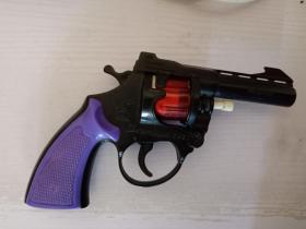 老玩具  塑料转轮枪