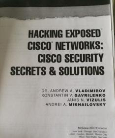 hacking exposed Cisco security secrets & solutions