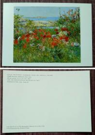 外国明信片,美国二手原版,画家哈萨姆美术绘画,品如图
