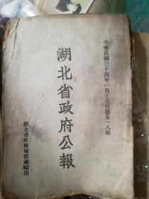 湖北省政府公报