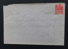 1931年7月29日法国(尼斯)实寄封贴早期qy88.vip千亿国际官网1枚(销2个邮戳)68