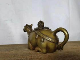 铜壶黄铜材质造型美观品相完好