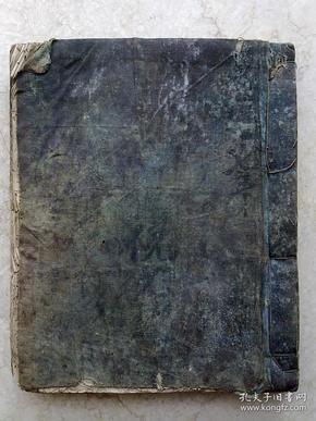 清代蓝布封面戏本             手抄本              一大厚册