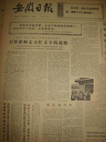 《安徽日报》【新的脚印,有崔文芝在北京工农兵医院照片】