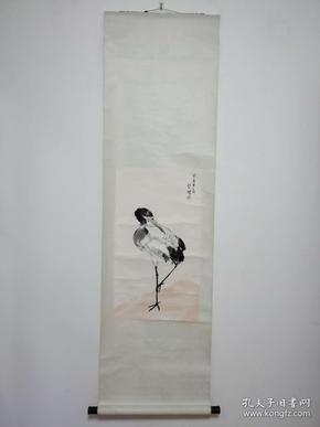 徐悲鸿 木版水印画 仙鹤