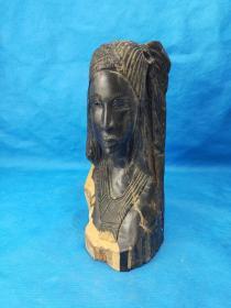 民间老料 紫檀木  雕刻做工精细 纹路清晰可见 上等材质 ,漂亮,重4斤多 喜欢的朋友收藏