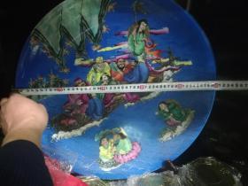 瓷器类;大清雍正五彩盘人物图案直径50厘米
