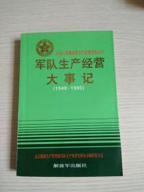 军队生产经营大事记(1949——1995)