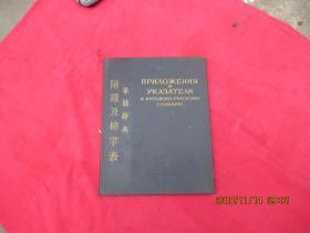 华俄辞典 附录及检字表