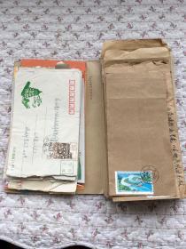 信封+邮票(85个信封贴100个邮票)合售、具体见图