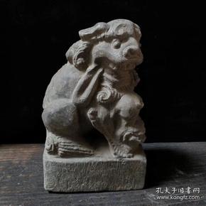 老青石狮子 尺寸 12.6*8.7*20.5厘米 重量 7.6斤