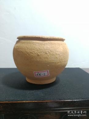 宋代包老陶瓷罐子坛子 口有一干裂窑裂