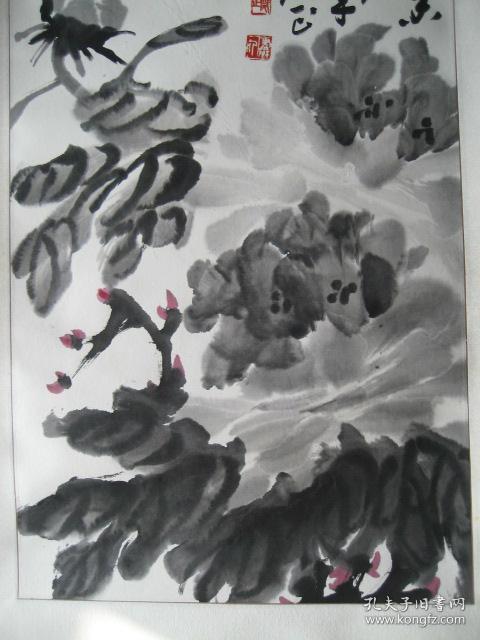 安徽省文史馆馆员,萧县著名老画家:郑正先生1999年创作的《墨香图》水图片
