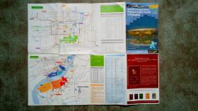 旧地图-上海世博会交通指南世博护照英文版(2010年2版)4开85品