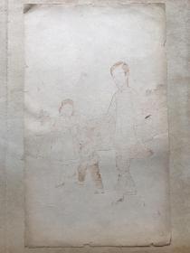 民国木版水印信笺----美人图---之6