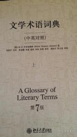 文学术语词典 中英对照 上册 第7版 (美)M.H.艾布拉姆斯 等著 北京大学