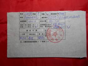 南京通信工程学院副教授 孙松庚 1990年填写的《激光工作会议开会通知回执》