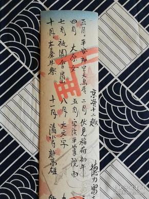 木版画 京洛十二趣·目录 内田美术书肆 德力富吉郎