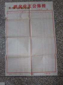 凤阳小岗村收来的空白巨幅《现金收支公布榜》,保老保真,罕见大锅饭的见证,存于b纸箱276