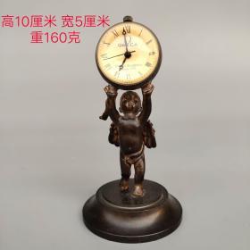 纯铜水晶单天使机械表(长期有货)尺寸重量如图