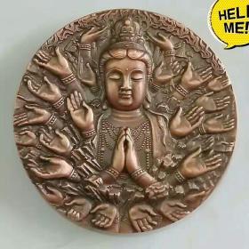 沈阳造币厂千手观音藏传文化观音铜章纪念章