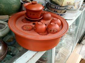 潮州工夫茶具,招财进宝,一套,茶盘直径23.5厘米