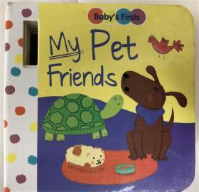 纸板书 my pet friends 我的宠物朋友