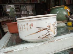 潮州工夫茶盘,金兰花,竹报平安茶盘
