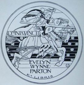 """""""新艺术名作""""英国艺术家""""Harold E.H.Nelson""""线刻藏书票—《冲锋的骑士》1900"""