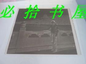老底片 北京万寿山留影