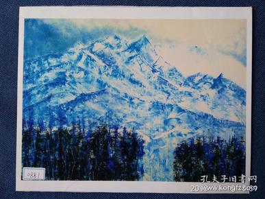 水粉画参赛作品签名照片《蓝寂》作者:李锋佳