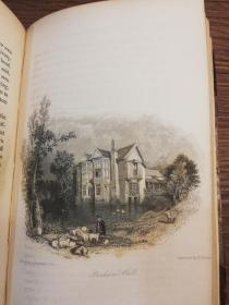 1838 LIFE of the REVEREND GEORGE CRABBE by HIS SON  含很多精美插图  皮脊