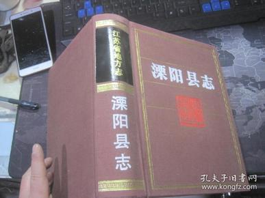 溧阳县志(精装/16开/无护封/92年一版一印)