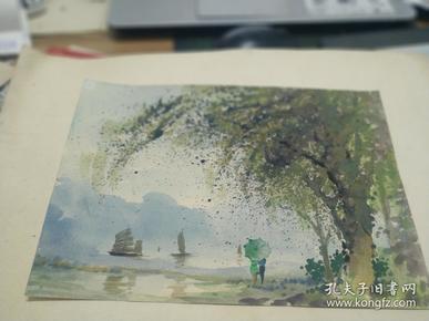 方润秋先生五至60年代水彩画之六