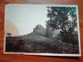 民国照片:徐州经过战事后之残垣一角