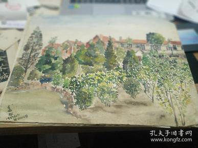 方润秋先生五至60年代水彩画之十一